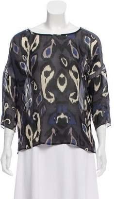Rag & Bone Silk Abstract Print Oversized Blouse