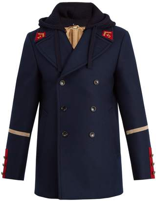 Gucci Caban detachable-hood wool coat