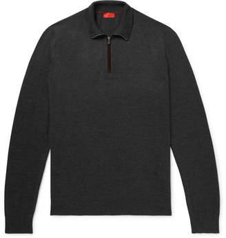 Isaia Merino Wool Half-Zip Sweater