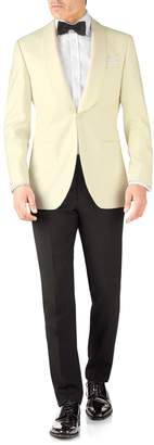 Charles Tyrwhitt Cream Slim Fit Shawl Collar Tuxedo Wool Jacket Size 38
