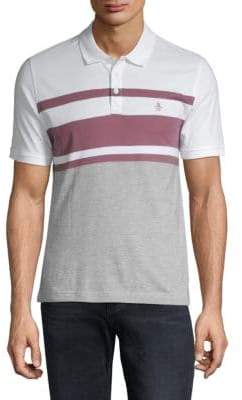 Original Penguin Vintage Striped Cotton Polo