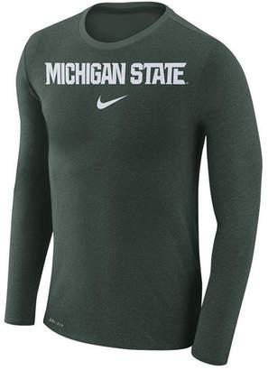 Nike Men's Michigan State Spartans Marled Long Sleeve T-Shirt
