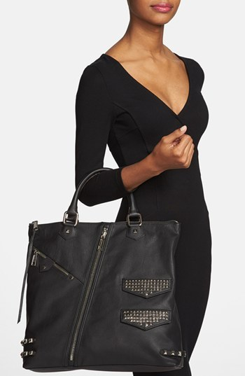 Rebecca Minkoff Studded Leather Moto Tote