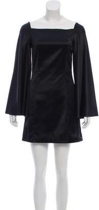 Rosetta Getty Satin Bell Sleeve Dress w/ Tags