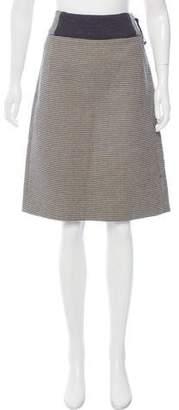Marni Wool Argyle Print Skirt