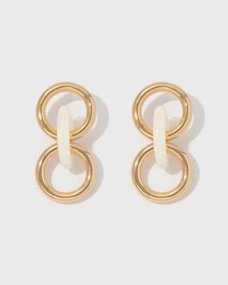 Lizzie Fortunato Triplet Link Earrings