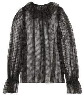 Dolce & Gabbana Woman Lamé-trimmed Ruffled Tulle And Net Blouse Black Size 44 Dolce & Gabbana Best Store To Get Cheap Price Manchester Great Sale Free Shipping Original Cheap Comfortable mPlVgxWX2y