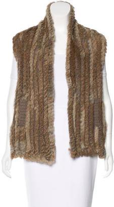 Marc by Marc Jacobs Quilted Rabbit Fur Vest $175 thestylecure.com
