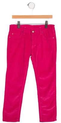 Oscar de la Renta Girls' Corduroy Straight-Leg Pants