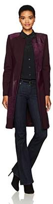 Calvin Klein Women's Long Jacket with Suede and Pu