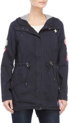 Superdry Navy Pacific Patch Parka
