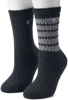 Columbia Women's 2-Pack Textured Wool Thermal Crew Socks