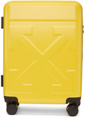 Off-White Off White Yellow Arrows Trolley Carry-On Suitcase