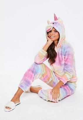 Missguided Pink Multi Rainbow Unicorn Twosie Set
