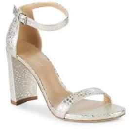 Stuart Weitzman Walkway Patent Leather Block Heels