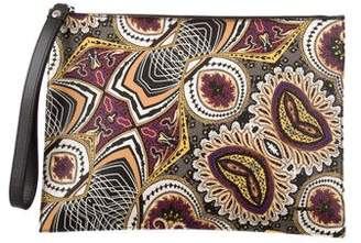 Etro Coated Canvas Paisley Clutch