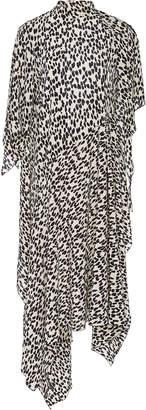 Petar Petrov Dorine Asymmetric Leopard-Print Silk-Crepe Dress