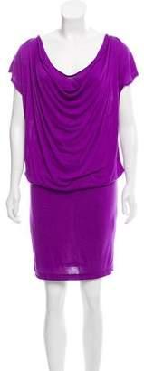 Alice + Olivia Sleeveless Draped Knee-Length Dress