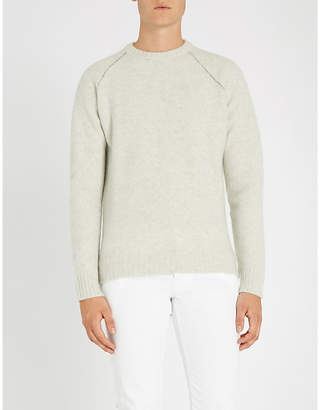 SLOWEAR Contrast-stitch wool and cashmere-blend jumper