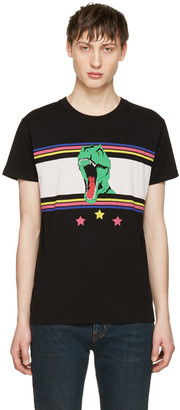 Saint Laurent Black T-Rex T-Shirt $350 thestylecure.com