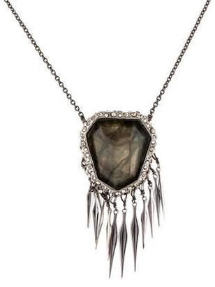 Alexis Bittar Labradorite & Crystal Fringe Pendant Necklace