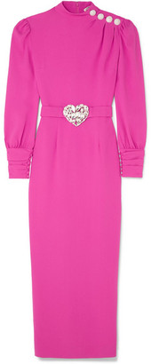 Alessandra Rich Crystal-embellished Crepe Midi Dress