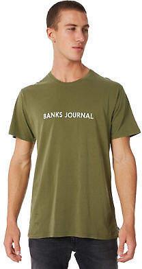 New Banks Men's Label Mens Tee Crew Neck Short Sleeve Cotton Soft Green