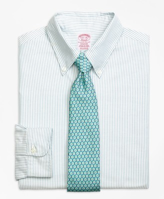 Brooks Brothers Original Polo Button-Down Oxford Madison Classic-Fit Dress Shirt, Bengal Stripe