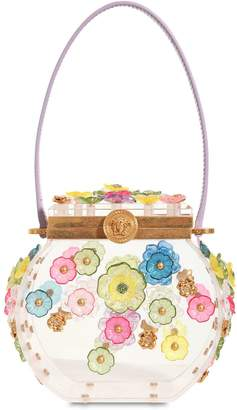 Versace Vanity Case Shoulder Bag W/ Flowers