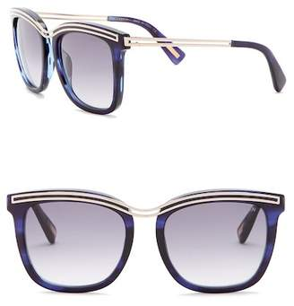 Lanvin 54mm Modified Square with Metal Detail Sunglasses