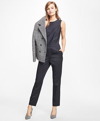 Wool-Blend Pinstripe Jumpsuit $198 thestylecure.com