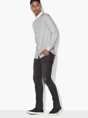 John Varvatos Band-Collar Bib Front Shirt