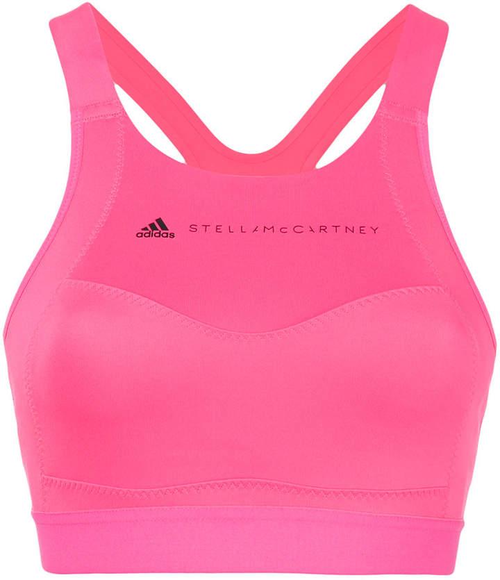 logo printed sports bra