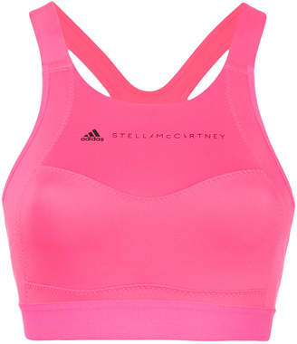adidas by Stella McCartney logo printed sports bra