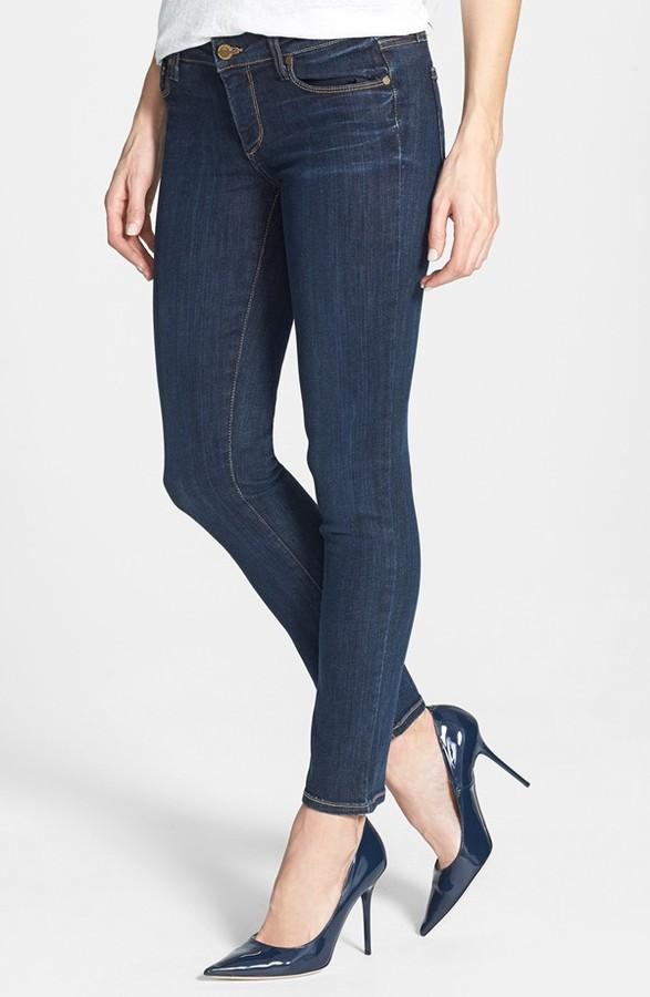 Paige 'Skyline' Skinny Ankle Jeans (Delancy)