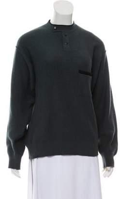 Sonia Rykiel Henley Sweater teal Henley Sweater