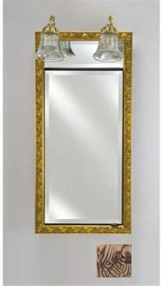 Afina Corporation SD-LT2030RSIEBZ 20 in.x 30 in.Recessed Single Door Cabinet with Traditional Lights - Siena Antique Oiled Bronze