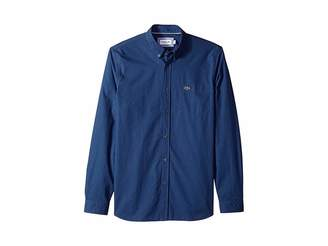 Lacoste Long Sleeve Regular Fit Gingham Poplin Button Down