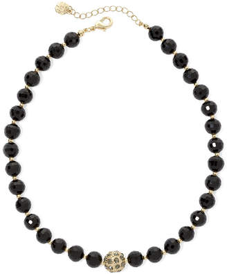 JCPenney MONET JEWELRY Monet Gold-Tone Black Bead Collar Necklace