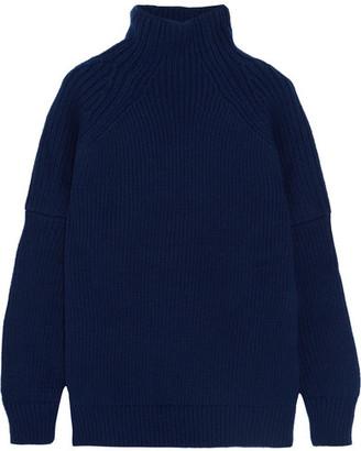 Victoria Beckham - Wool Turtleneck Sweater - Navy