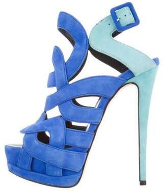 Giuseppe Zanotti Bicolor Caged Sandals