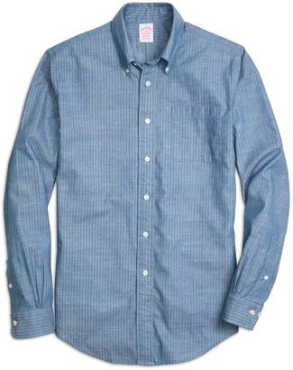 Brooks Brothers Madison Fit Chambray Anchor Sport Shirt