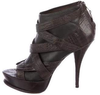 Elizabeth and James Leather Platform Ankle Boots