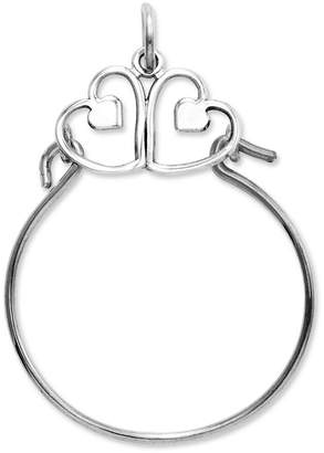 Macy's 14k White Gold Charm Holder, Heart Charm Holder