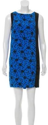 Ungaro Silk Printed Dress Blue Silk Printed Dress