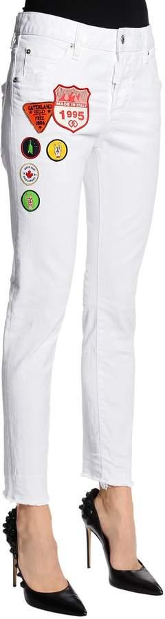Jeans Aus Denim Mit Patches