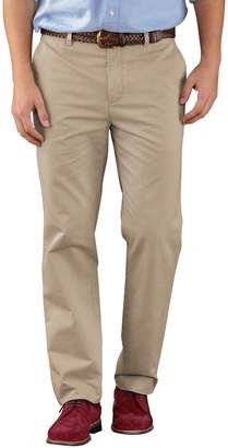 Charles Tyrwhitt Stone Slim Fit Flat Front Washed Cotton Chino Pants Size W30 L30