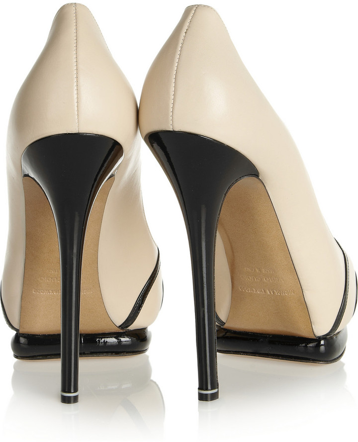 Nicholas Kirkwood Leather and patent-leather pumps