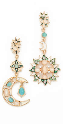 Shashi Moon Star Earrings $45 thestylecure.com