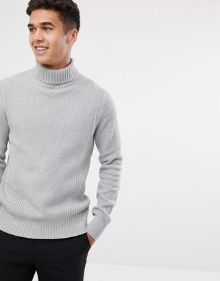 Jack and Jones Knitted Roll Neck Sweater